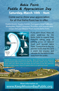 Bahia Point Paddle and Appreciation Day March 3, 2018